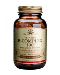 """Solgar - Vitamin B-Complex """"100"""" - 50 Veg Caps"""