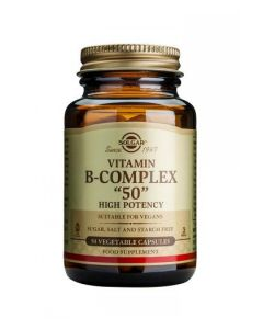 """Solgar - Vitamin B-Complex """"50"""" - 50 Veg Caps"""