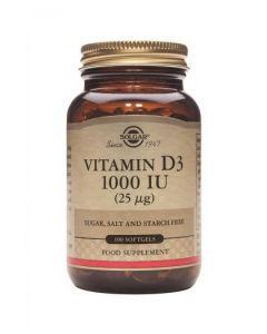 Solgar - Vitamin D3 1000 IU (25 µg) - 100 Softgels