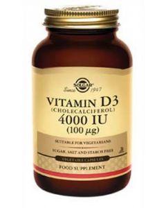 Solgar - Vitamin D3 4000IU - 120 Vegetable Capsules