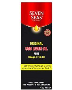 Seven Seas Cod Liver Oil + Omega 3 450ml