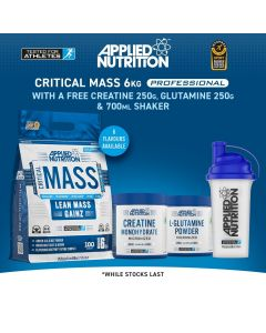 Applied Nutrition Critical Mass 6kg Deal (Freebies)
