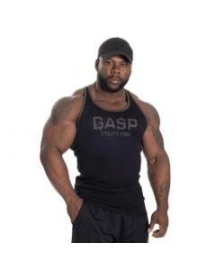 GASP Ribbed T-Back - Black