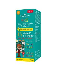 Natures Aid Kidz Multi-Vitamins & Minerals Banana 150ml