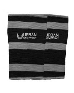 Urban Gym Wear 2 Ply Elbow & Knee Sleeve - Black/Grey