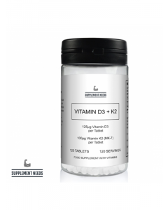 SUPPLEMENT NEEDS - VITAMIN D3 AND K2 (MK-7) - 120 TABS