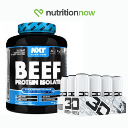 NXT Beef Protein Isolate 1.8kg + 3D Energy (Case of 12)